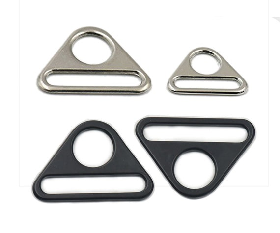 "1/"" 25mm 38mm 1.5/"" Plastic Triangles Adjuster Bar Clip D Ring Strap Buckle Black"