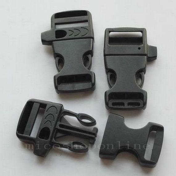 "2 5 10 PCS  3//4/"" 19mm Emergency Whistle Buckle For Paracord Bracelets Plastic"