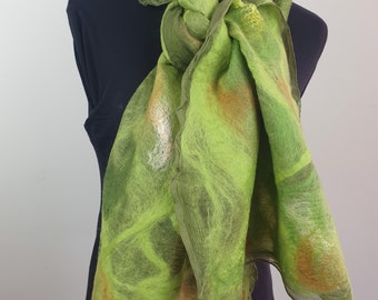 Green on olive green silk