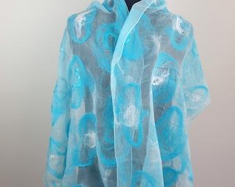 Turquoise blue Summer shawl