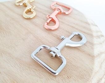 10x Medium Weight Push Gate Swivel Snap HooksClaspsClips in Gold 1 2.5cm Nickel-Free