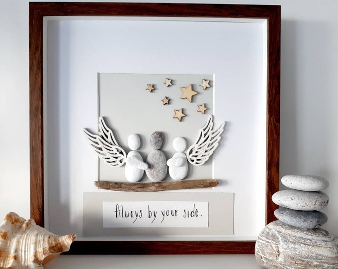 In memory pebble picture, memorial gift, loss of someone special, bereavement gift, sympathy gift, pet loss, dog loss, cat loss.