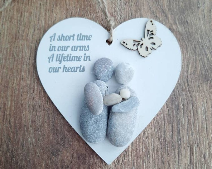 Baby loss gift, pregnancy loss, In memory pebble art picture, memorial gift, loss of someone special, bereavement gift, sympathy gift.