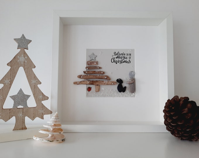 Believe in the magic of Christmas... pebble picture. a perfect gift for those loved ones at Christmas or simply for your Home..