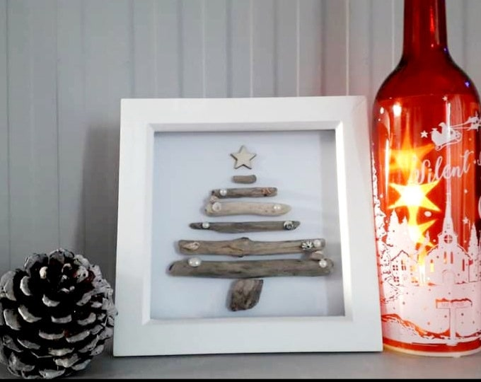 The Christmas Tree.. driftwood art picture, Perfect decoration for the home or as a gift for a loved one.