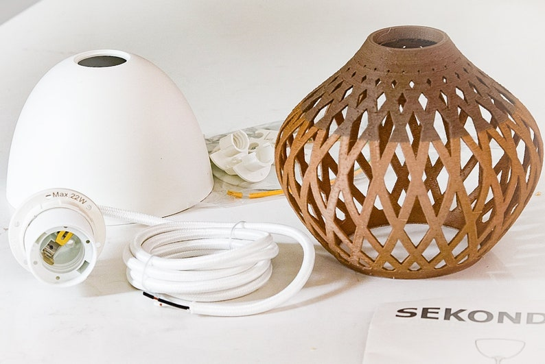 Light Lampshade Printed For Sekond Fitting Pendant 3d Ikea kZuOiTPwX