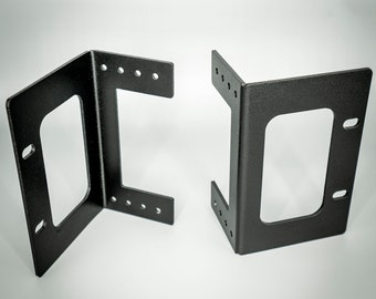 """Aluminum Behringer Recessible 19"""" Rack Ears (Pair) for XR16 / XR18 / SD16 / and Midas MR16 / MR18"""