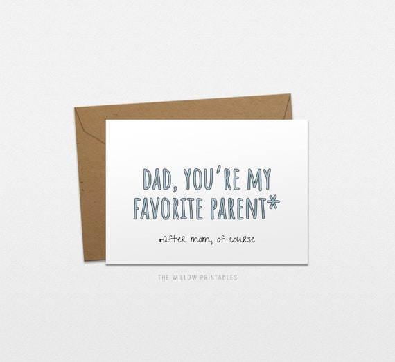 graphic relating to Happy Fathers Day Card Printable known as Most loved Father or mother Greeting Card, Content Fathers working day Printable Card, Amusing Card for father