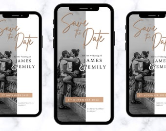 Electronic Save The Date - Wedding Invite - Save The Date - Invitation Video - Invitations - Wedding - Invitation - Bride - Wedding Invite