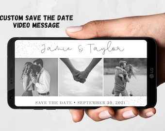 Save The Date Personalised  Video - Wedding Invite - Save The Date - Invitation Video - Animated Invitations - Wedding - Invitation - Bride