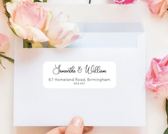 24 RECTANGLE ADDRESS STICKERS 63MM X 34MM. Address - Birthday - Business - Envelope - Personalised Stickers - Thank You Stickers