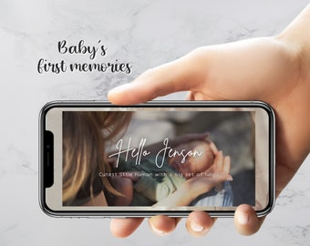 Baby Memories Personalised  Video - First Birthday - Baby Shower - Invitation Video - Animated Invitations - New Baby - Invitation keepsake