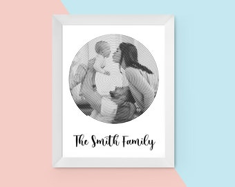 Personalised Photo Spiral Print - A4 Print - Photo Gift - Newborn - Wedding Gift - Wedding Gift, Home Print, Family Present - Keepsake