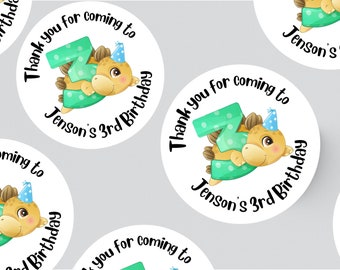 24 DINOSAUR STICKERS 45MM X 45MM. Birthday - Party - Party Bags - Personalised Stickers - Preschool Party - Dino Stickers - 1st Birthday -