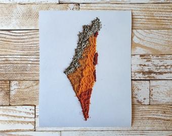 Map of Israel in Focus Spice Art Print