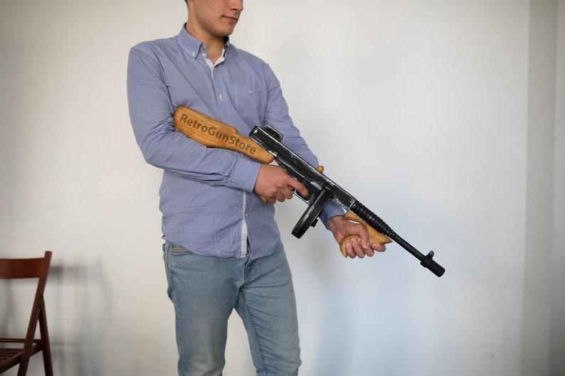 Cosplay Props Movie Guns Tommy Gun Cosplay Gun Prop Gun Weapon Replica  Machine Gun Military Toy Assault Rifle Replica Guns Mafia Accessories