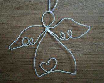 Angel Christmas Decoration Guardian Angel Angel Figure Paper Wire Christmas Loop Bow Handmade