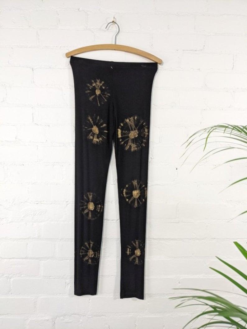 Hand-crafted BlackWhite Tie Dye Leggings