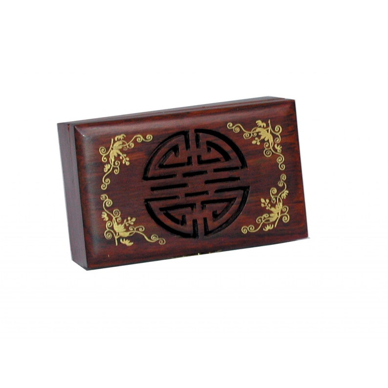 Shou Fretwork Oriental Jewellery Box Hand crafted