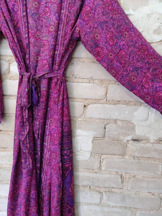 Pink Floral Kimono, Pink Kimono Robe, Dressing Ro… - image 2