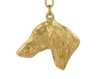Italian Greyhound ELEGANCE set NEW Dog keyring for dog lovers ArtDog limited edition dog keyring and necklace in casket