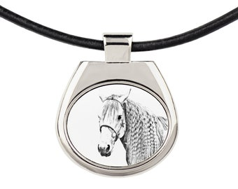 Solid Key Pendant Graphics Keychain with a horse Key ring Azteca horse Keyring Metal Key Holder