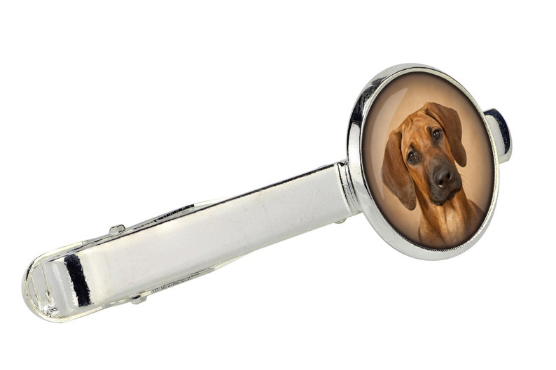Rhodesian Ridgeback Tie Clip with a photo of a dog Customizable men\u2019s jewelry for pet lovers Handmade Your photo