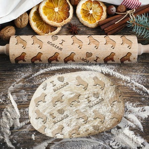 Engraved Rolling-pin Roller with Your Pattern Westie Rolling Pin for Cookies with Dog/'s Body Embossing Rolling Pin