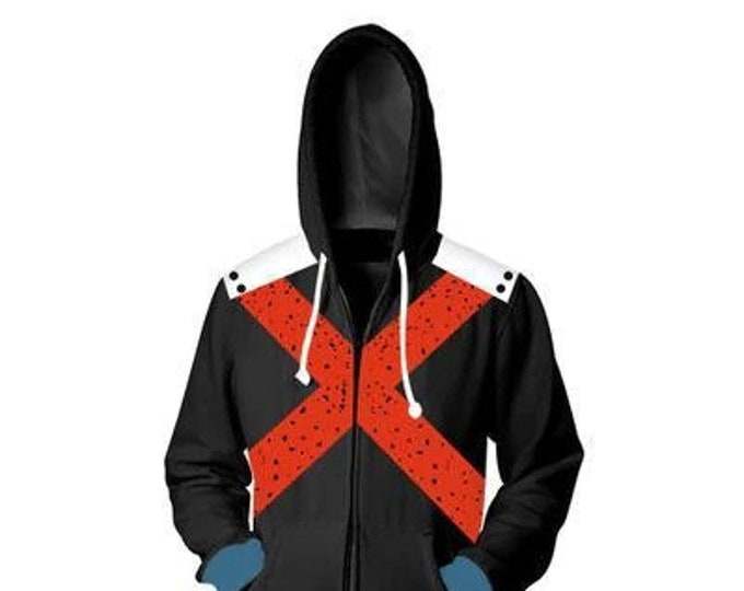 Featured listing image: PREORDER - Bakugo Hoodie - Please see sizing chart before ordering (Arriving early March)