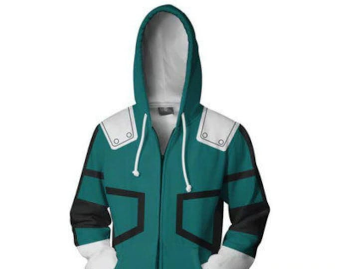 Featured listing image: PREORDER - Deku Hoodie - Please see sizing chart before ordering (Arriving early March)