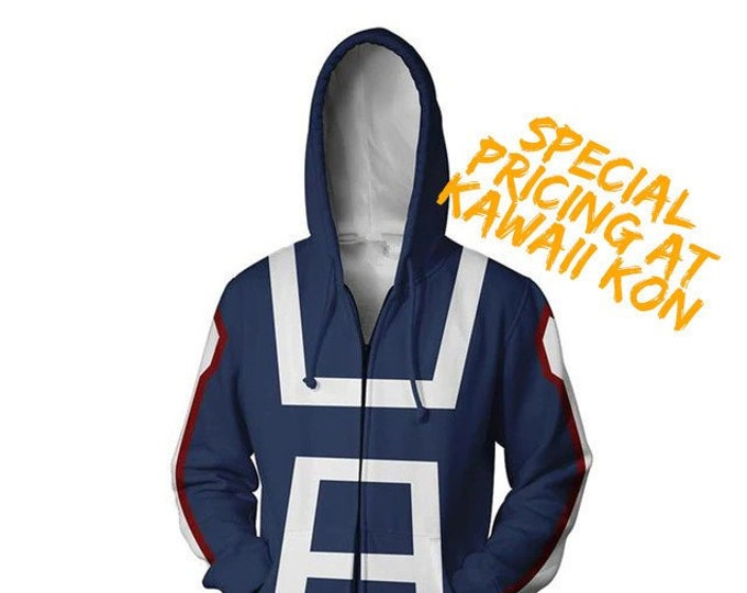 Featured listing image: UA Hoodie (My Hero Academia) - Please see sizing chart before ordering