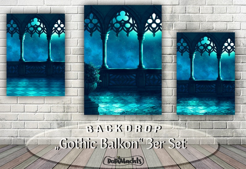 Gothic Balkon Sterne mystische Foto-Kulisse image 0