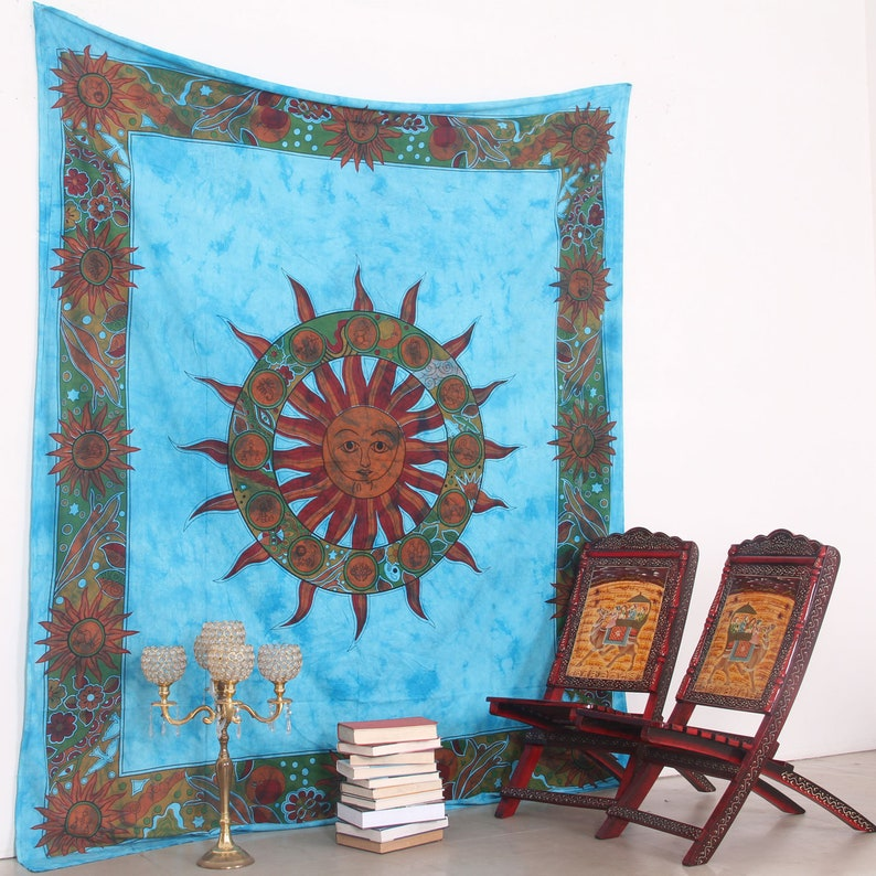 Tapestries Hippie Indian Tapestry Ying Yang Throw Wall Hanging Gypsy Bedspread Home Décor