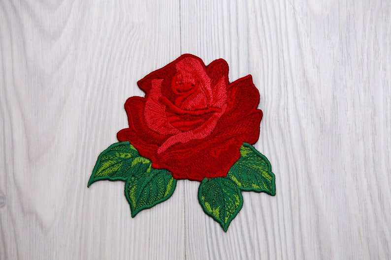 54e5c0cd2aa6 Large Beautiful rose patch large red rose patch iron on