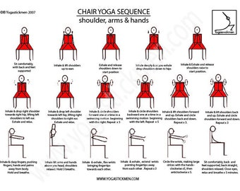 5 Minute Desk Yoga Sequence for Shoulder and Arm Flexibility and Health  Downloadable PDF