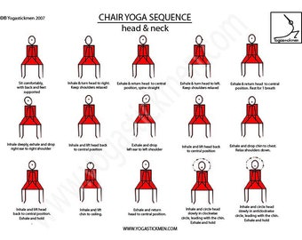 5 Minute Desk Yoga Sequence for Head and Neck Flexibility and Health Downloadable PDF