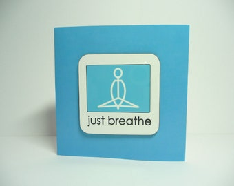 Yoga Coaster and Card in ONE (Blank)