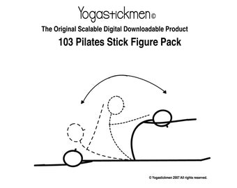 103 downloadable Pilates stickmen Pack