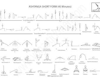 Ashtanga Short Form 45 minute Series Downloadable PDF
