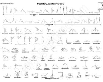 A4 Ashtanga Full Primary Series Downloadable PDF
