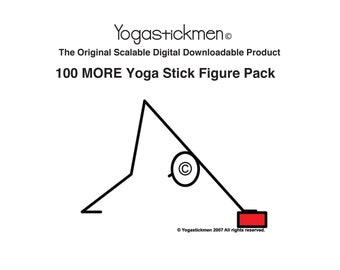 100 MORE downloadable Scalable Yoga stick figures (Pack 2)