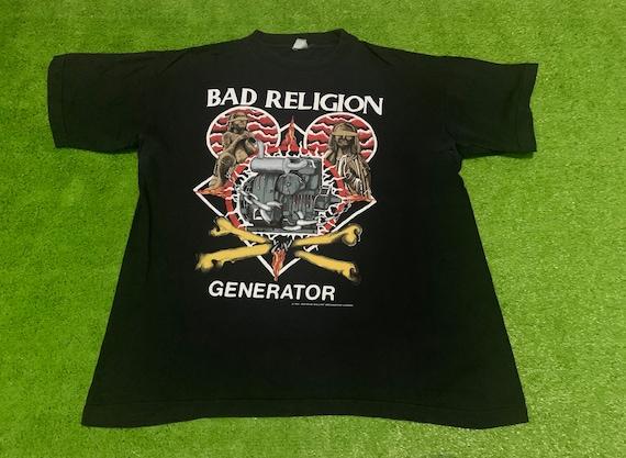 Vintage BAD RELIGION 1992 Tour Eropean Shirt Rare