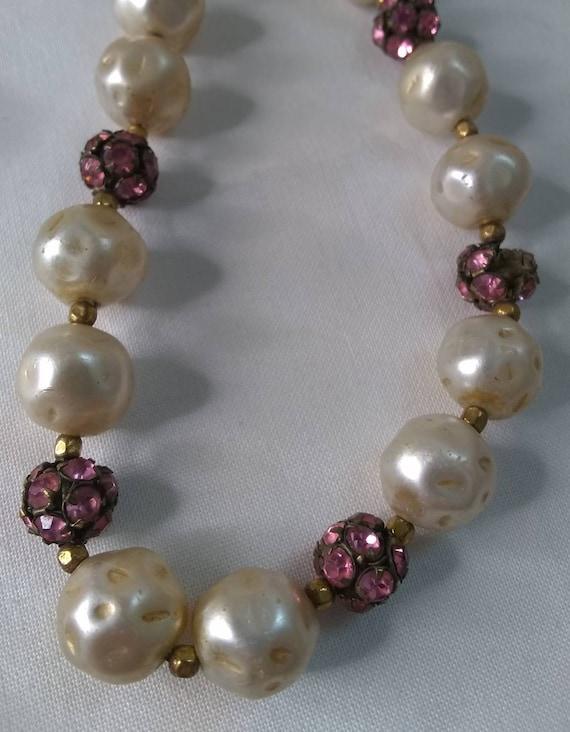 Vintage Mid-century Faux Pearl Jewelry Bundle - 2… - image 9
