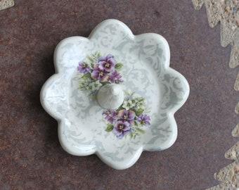 Floral Ring Holder/Dish