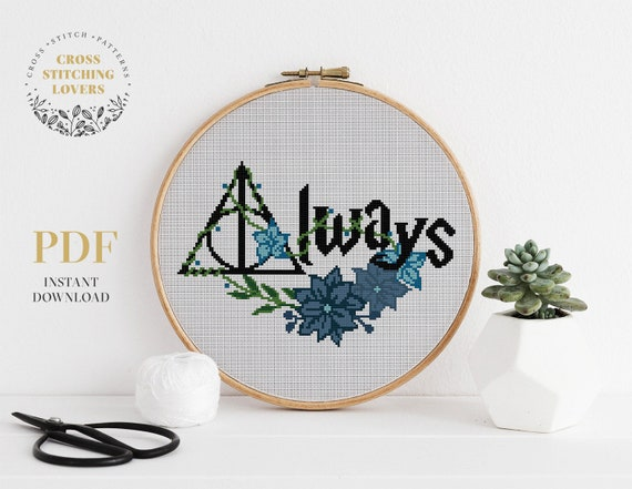 Magic symbol Cross Stitch Pattern home decor counted cross stitch instant download PDF, gift crossstitch wizard embroidery design