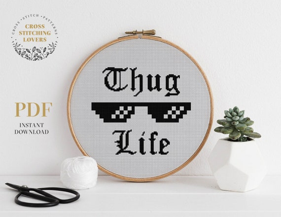 modern embroidery chart instant download PDF Funny counted cross stitch design Snarky cross stitch pattern home decor