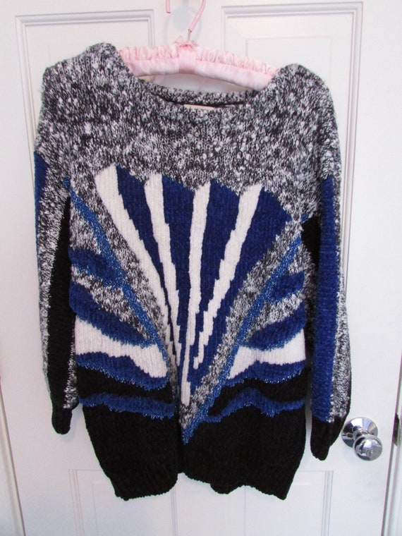 1980s Acrylic and Cotton Sweater - Vintage 1980s