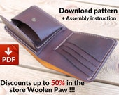 Wallet pattern Bifold two variant PDF file Photo instruction