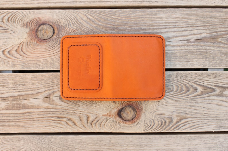 PDF pattern Template leather Bi-fold with a coin box assembly instructions! wallet