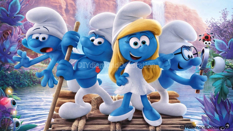 5D Diamond Painting Adventures Smurfs SquareRound Full Drill Cross Stitch Kits Mosaic Embroidery Home Decoration Bedroom Wall Painting